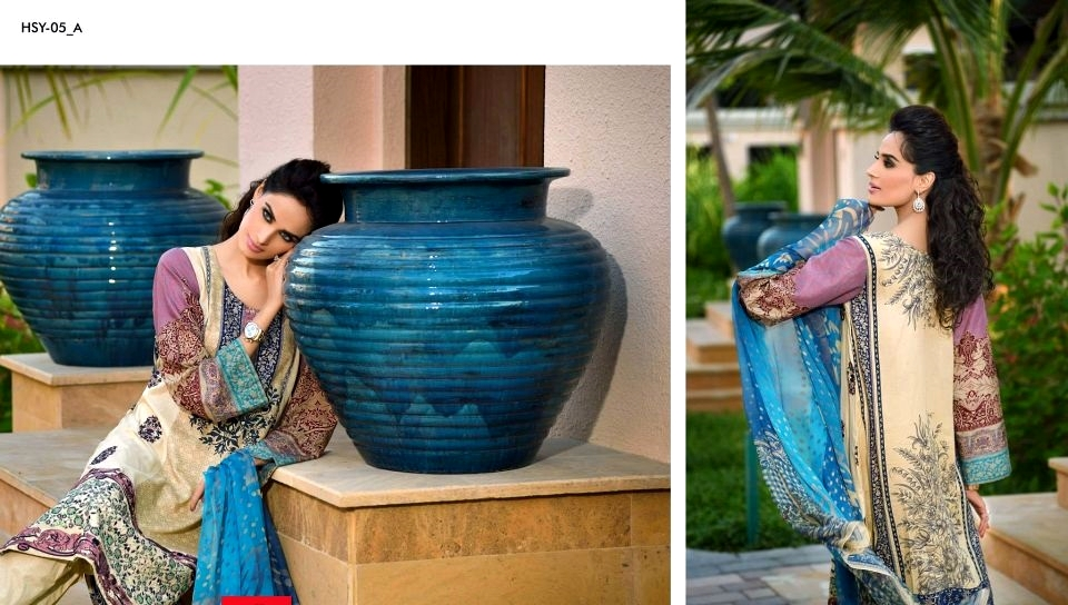 HSY Lawn Dresses for girl