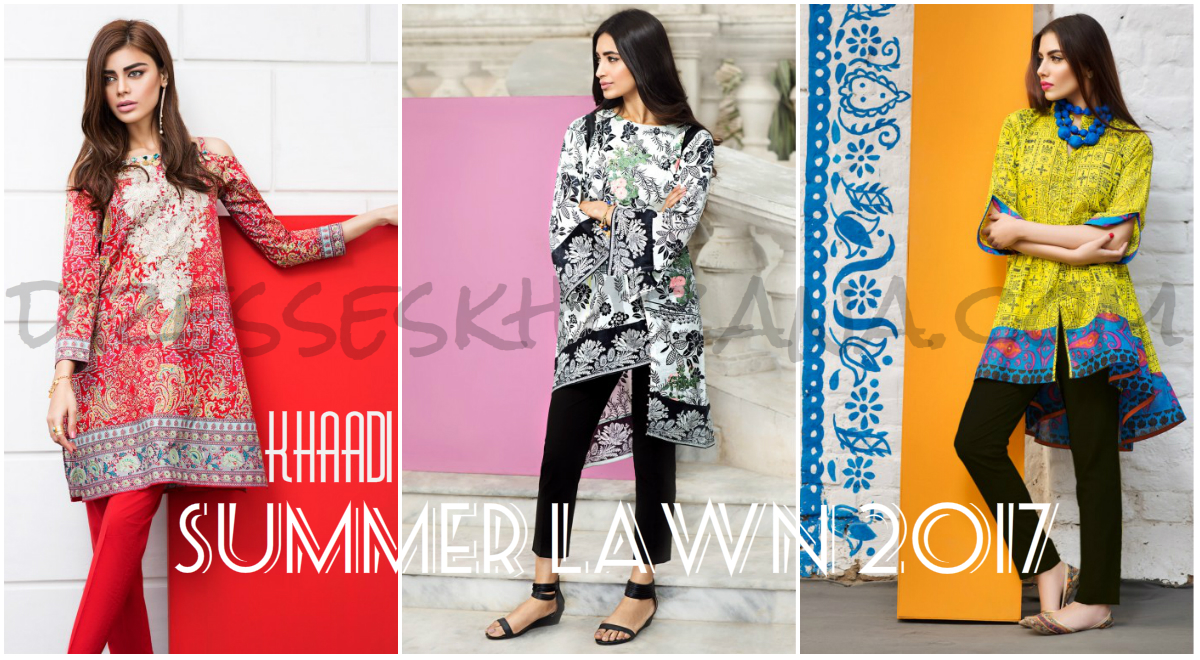 Khaadi Lawn 2017 Vol 1 Embroidered Summer Dresses for Ladies