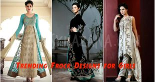 Latest Trending Frock Designs for Girls 2017
