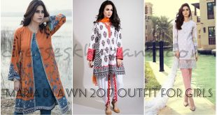 Maria B Lawn 2017 - New Stylish Summer Dresses for Girls by Maria B