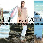 Motifz Lawn 2017 - Latest Embroidered Summer Lawn Dresses for Girls