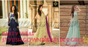Party Wear Stylish Gown Dresses 2017 for Girls