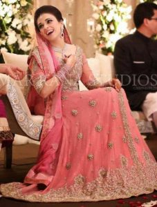 Pink Bridal Walima Dresses