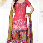 Printed Patial Salwar with Short Kameez