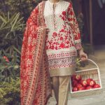 Red Aklaram Lawn Dress