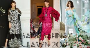 Sana Safinaz Lawn 2017 Spring Summer Printed Lawn Collection for Girls