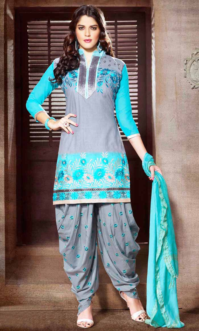 Patiala Salwar 2018   Latest Patiala Suit with Short Kameez Designs