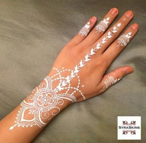 Stylish White Mehndi Designs