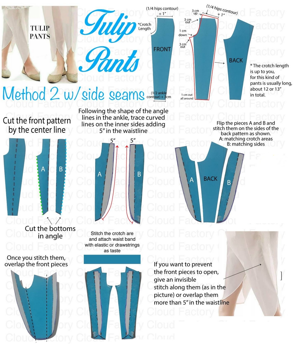 Tulip Pant Cutting & Tutorial