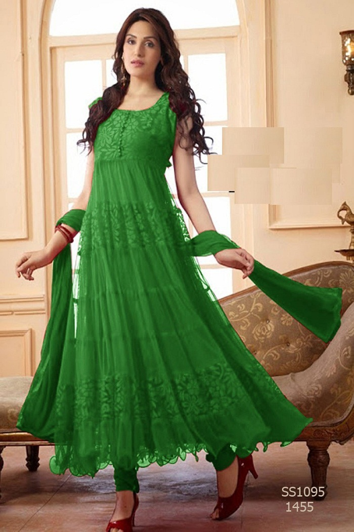 Umrella Frock Designs in Green