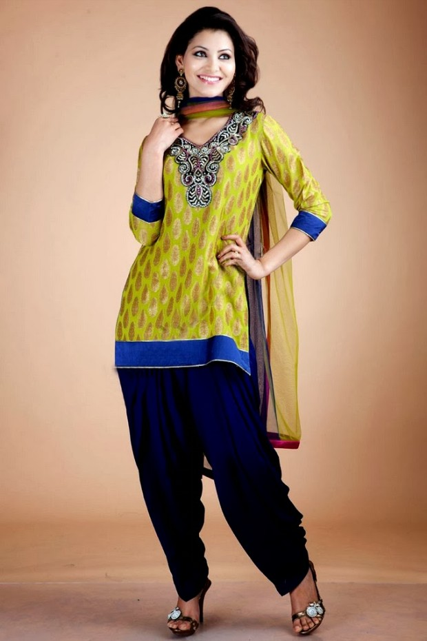 Patiala salwar 2018 latest patiala suit with short for Girls suit design