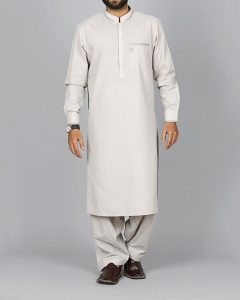 Ash Grey CVC Men's Kameez Shalwar