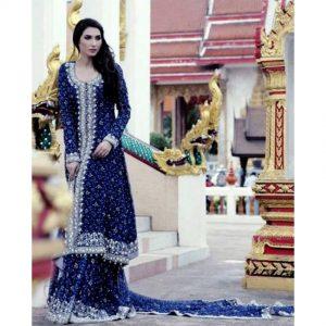 Blue Bridal Dress