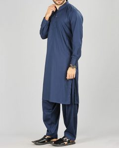 Dark Blue Cotton Men's Kameez Shalwar