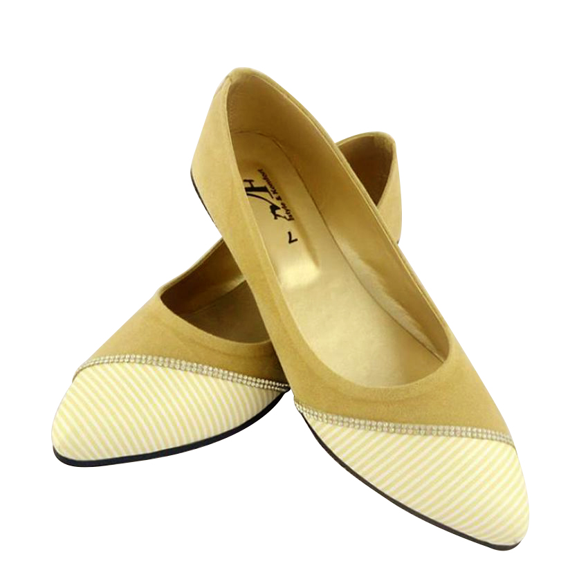 Ladies White Patent Flat Shoes