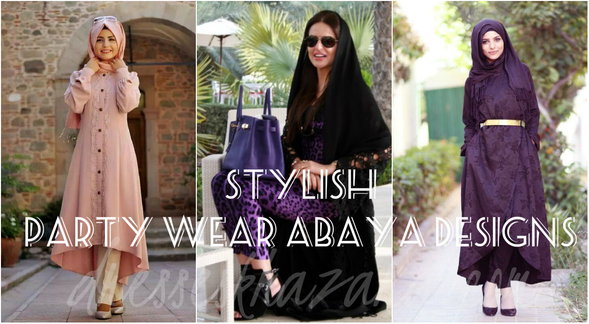 Formal Abaya Designs 2017 - Stylish Party Wear Abaya Collection for Girls