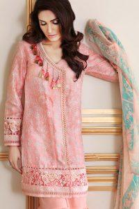 Gul ahmed embroidered silk elan dress 2017