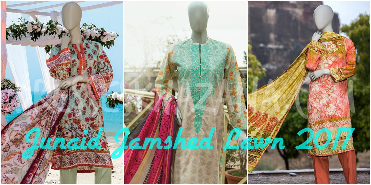Junaid Jamshed Lawn 2018 for Girls New Summer Dresses Vol 1