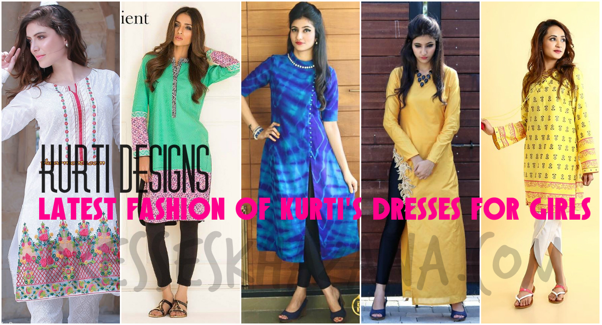 Kurti Designs 2017 - Latest Fashion of Kurti's Dresses for Indo-Pak Girls