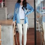 Print Jeans Shirt for Women