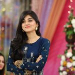 Simple Hairstyle of Sanam Balouch