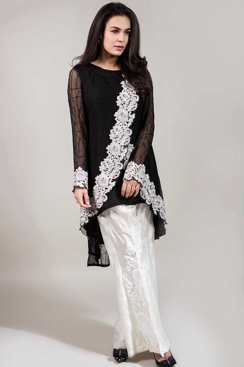 Stylish Black suit for eid 2017