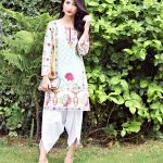 Stylish Kurti with Tulip Pants for EID dress 2017