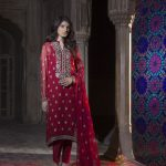 breeze red dress for eid 2017