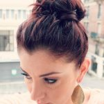 messy top knot hairstyle 2017 for girls