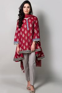 red suit for eid 2017
