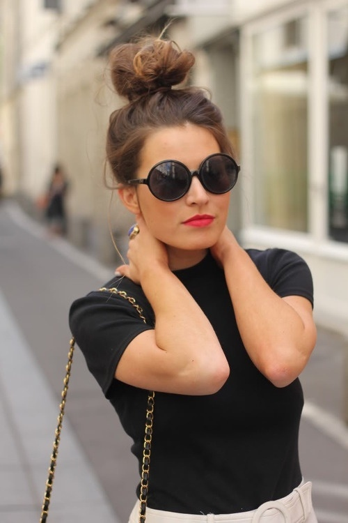 Scraped-Back Top Knot Hairstyles