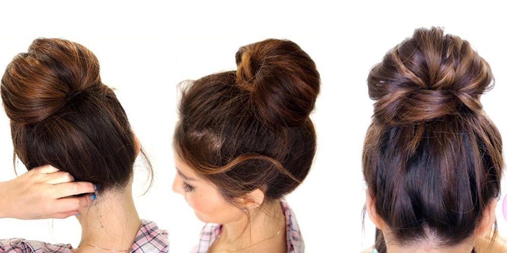 updo buns for long hair