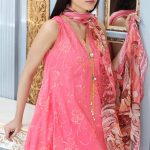 Gul Ahmed 3 PC EMBROIDERED SILK LINEN