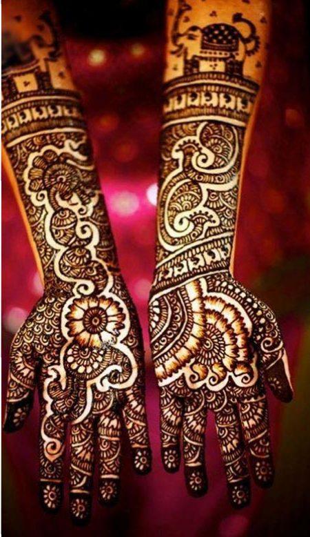 Indian Arabic Mehndi Patterns 2017