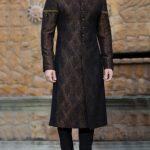 JJ Atlas Jamawar fabric sherwani design 2017 60k