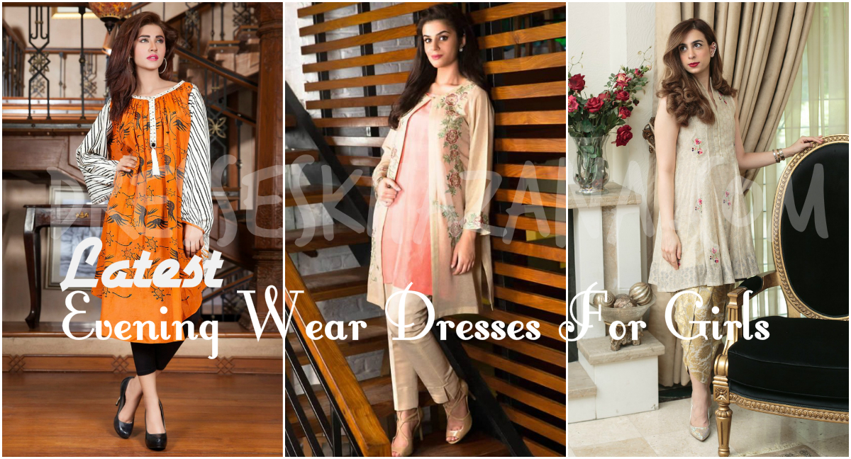 Latest Pakistani Evening Wear Dresses 2018 Fashion for Girls
