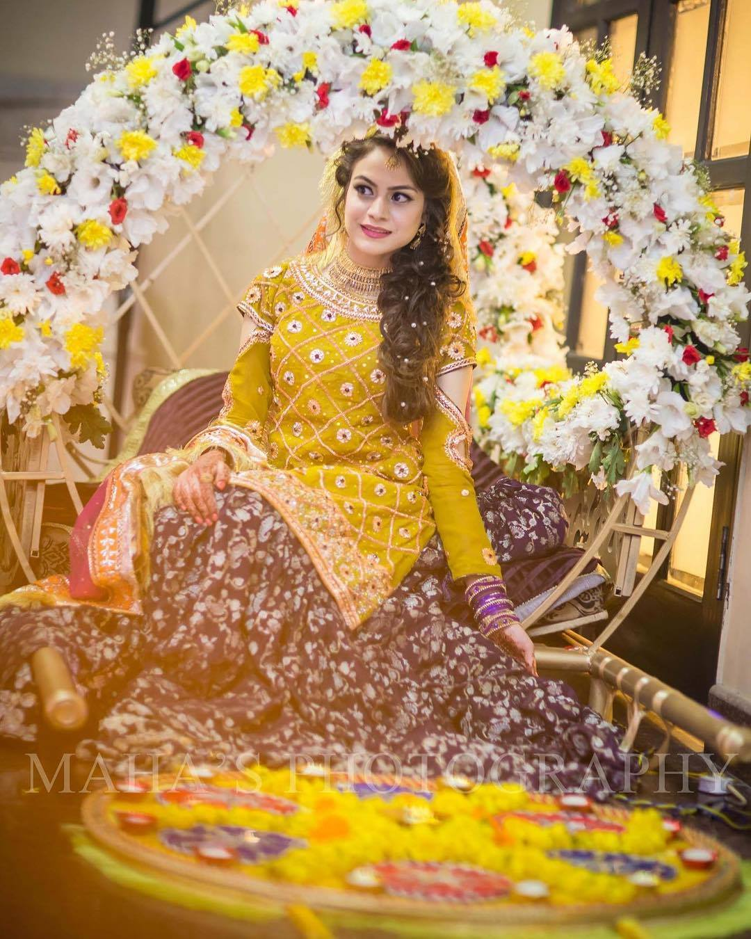 Mehndi Bridal Dress : Pakistani bridal dresses latest mehndi barat