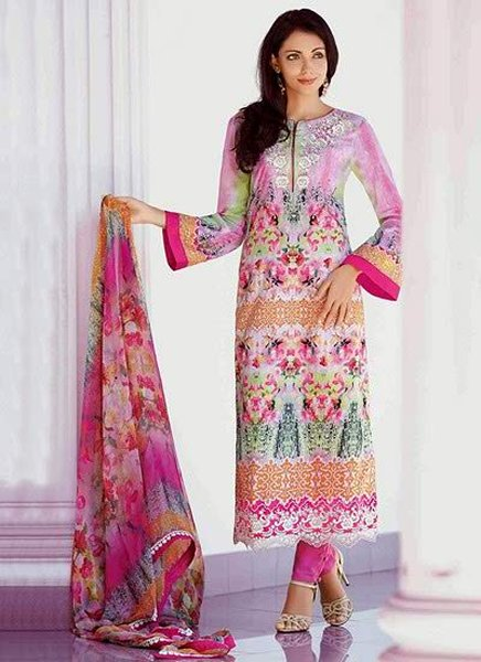 Latest Pakistani Salwar kameez casual dress for girls 2017