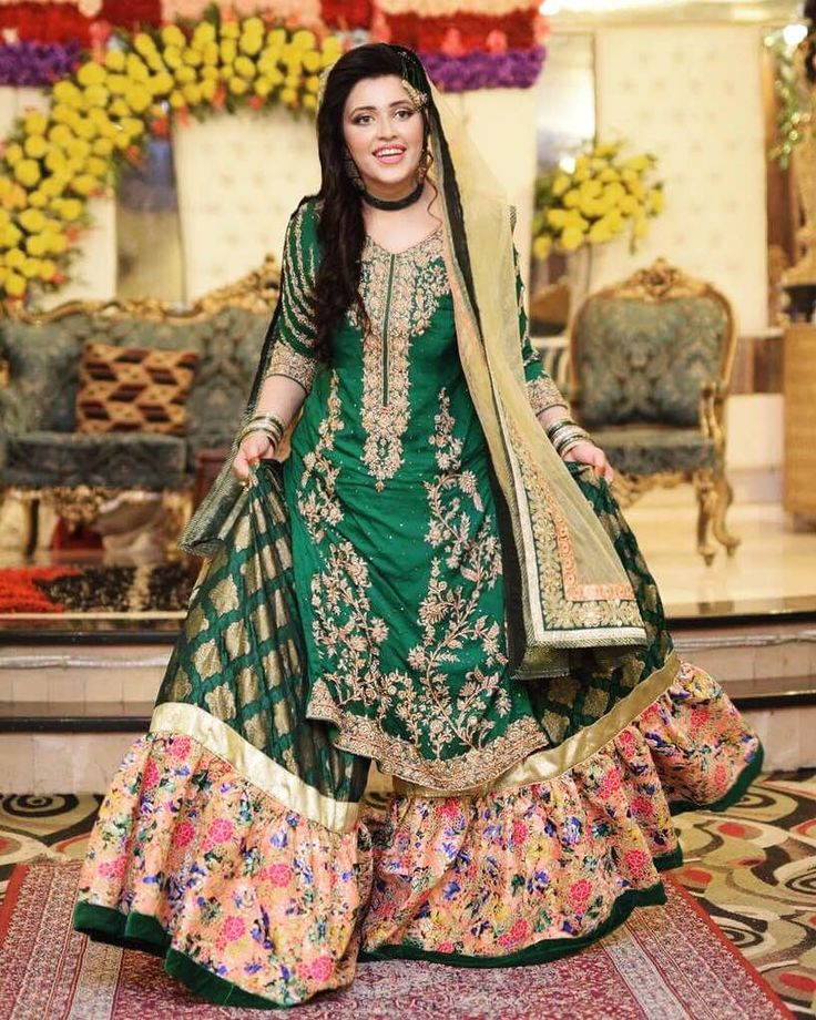 Latest Sharara dress for mehndi 2017