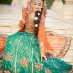Long Gharara dress for mehndi