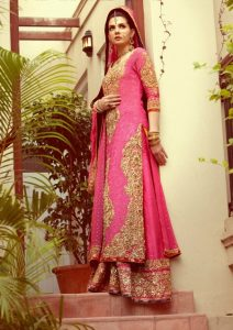 Long shirt dresses with Lehenga for bride 2017