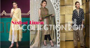Nishat Linen Eid Collection 2017 - Latest Nisha Eid Dresses for Ladies