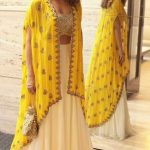 Open shirt dresses with Lehenga for girls 2017