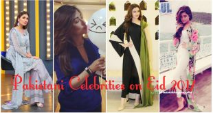 Pakistani Celebrities on Eid 2017 - Pictures of Couple Celebrities with Kids