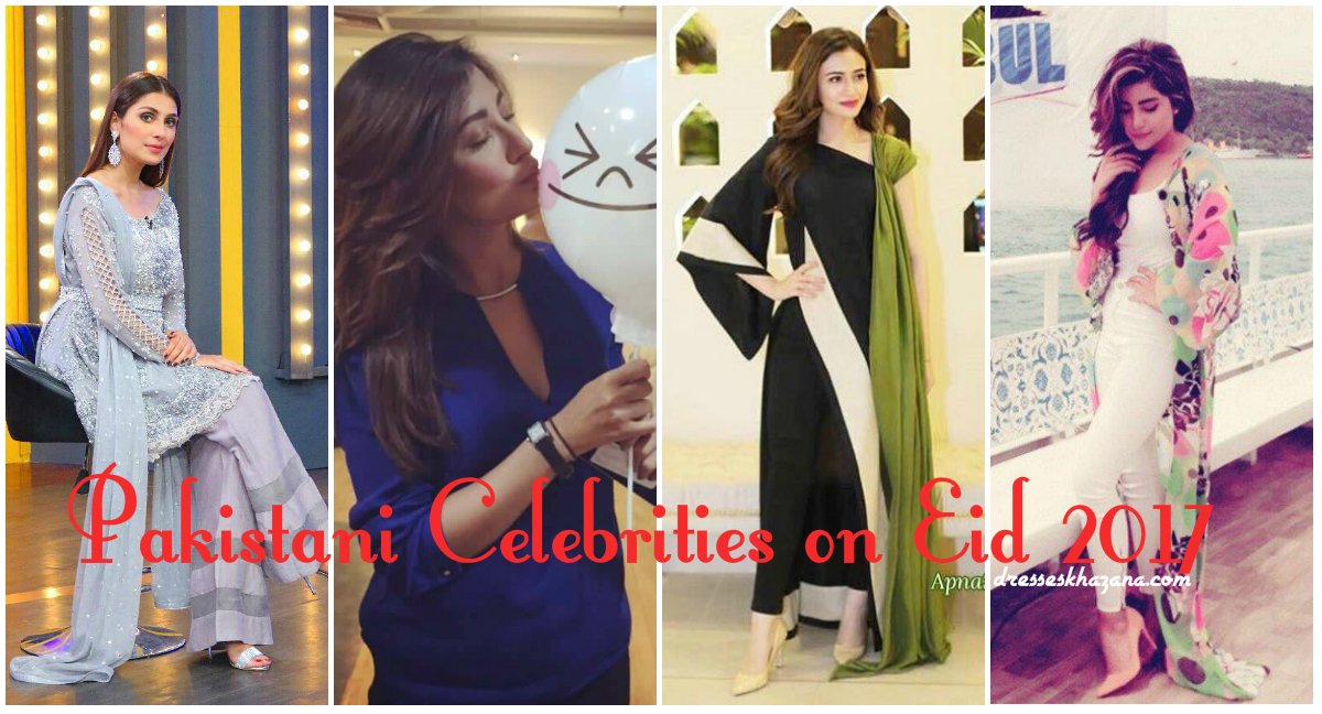 Pakistani Celebrities On Eid 2018 Pictures Of Couple Celebrities With Kids