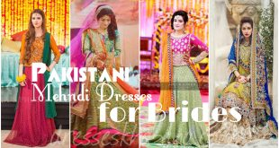 Pakistani Mehndi Dresses for Bride 2017