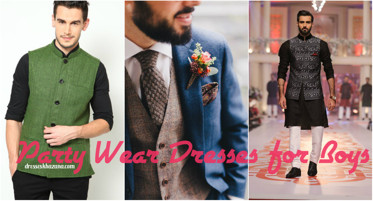 Pakistani Party Dresses for Men 2017 - Boys Party Wear Outfit Fashion