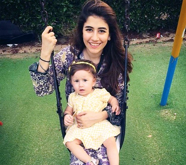 Syra Shehroz with her Kid