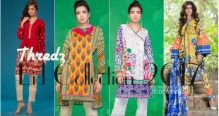 Thredz Eid Collection 2017 - Latest Festive Dresses Collection for Girls