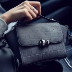 Trapeze Stone Luxury Handbag for Women - Black